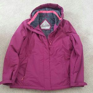 Ski jacket women size L purple